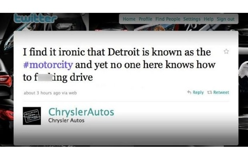 chrysler tweet fail
