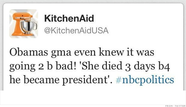 kitchenaid obama fail