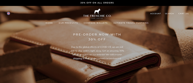 The Frenchie Co. Homepage