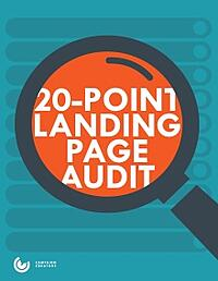 20 Point Landing Page Audit Cover