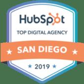 HubSpot San Diego Top Agency Badge