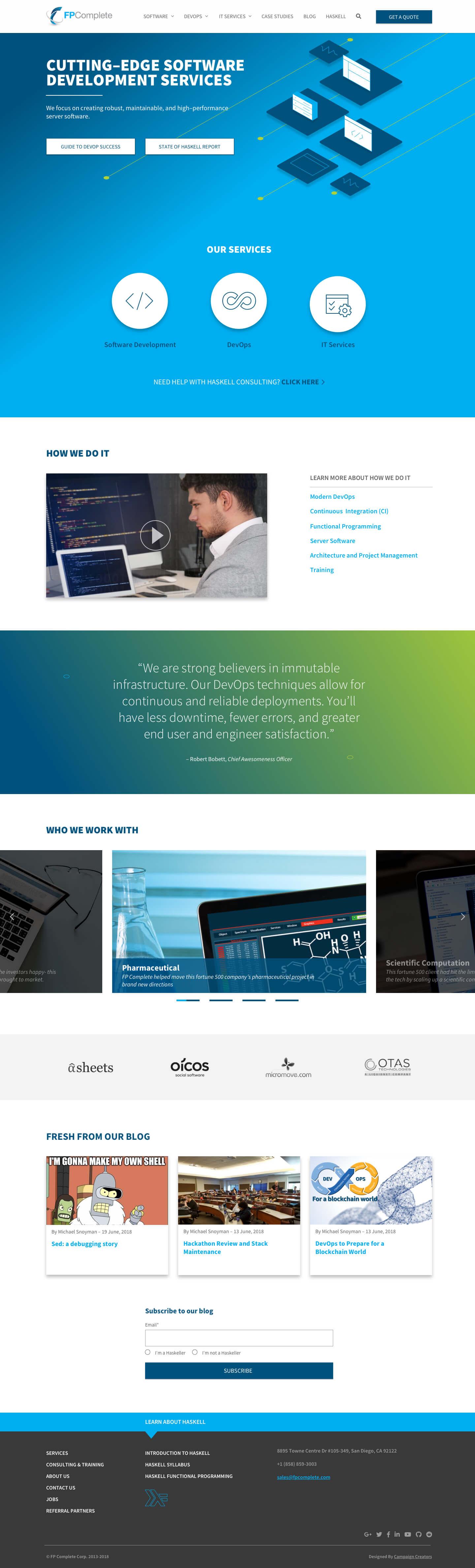 FPComplete-Homepage