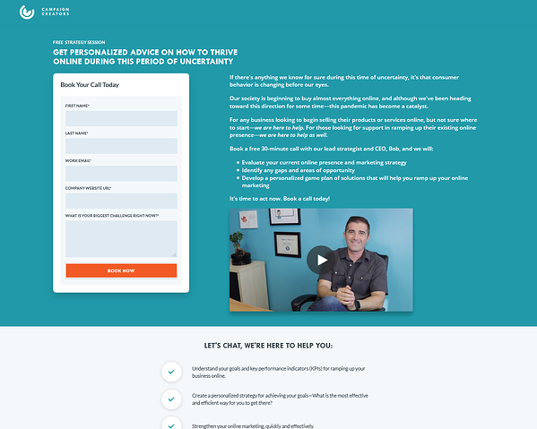 campaign-creators-free-strategy-call-landing-page