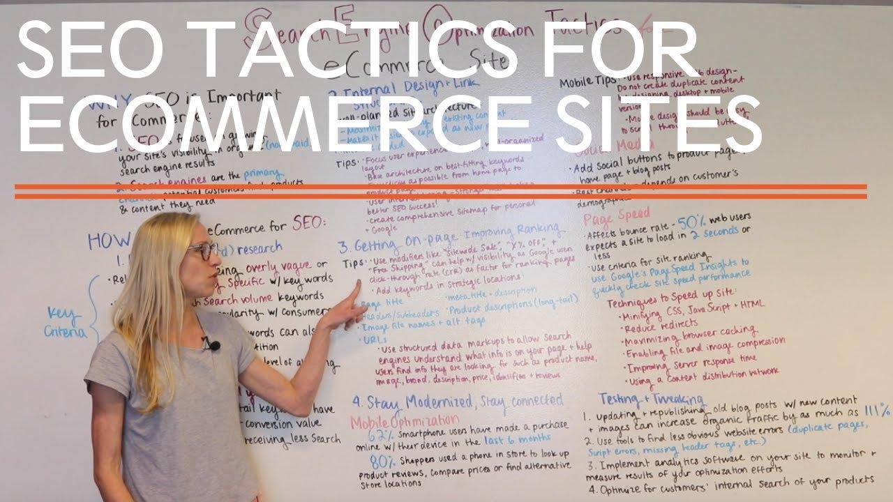 SEO tactics for eCommerce websites video thumbnail