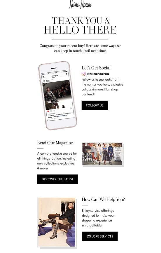 Post-Purchase Campaign Example