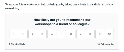 Talk Data to Me NPS Survey