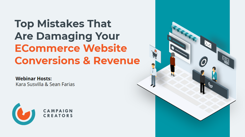 ECommerce Conversion & Revenue Mistakes On-demand webinar cover