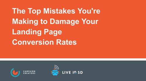 Landing Page Mistake Webinar Cover