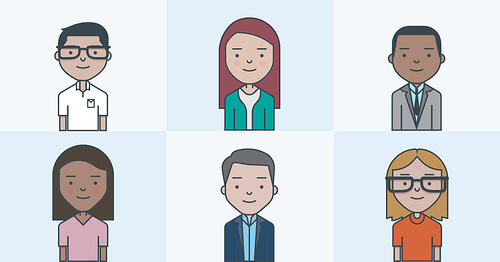 Image of female and male avatars representing buyer personas