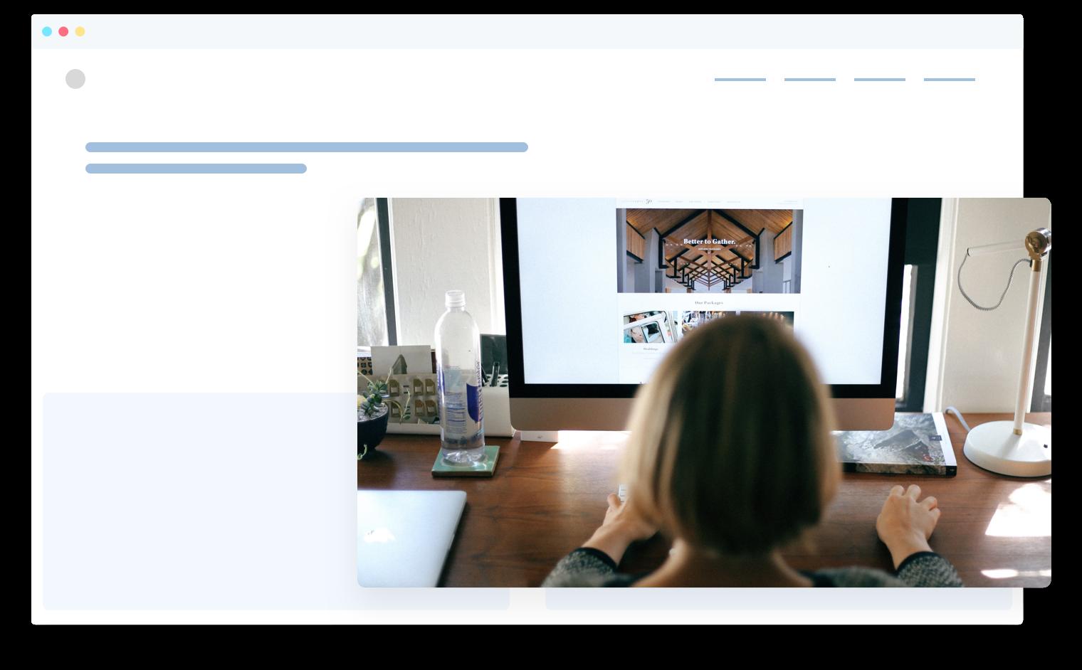 Person building website