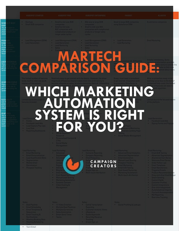 Martech Comparison Guide