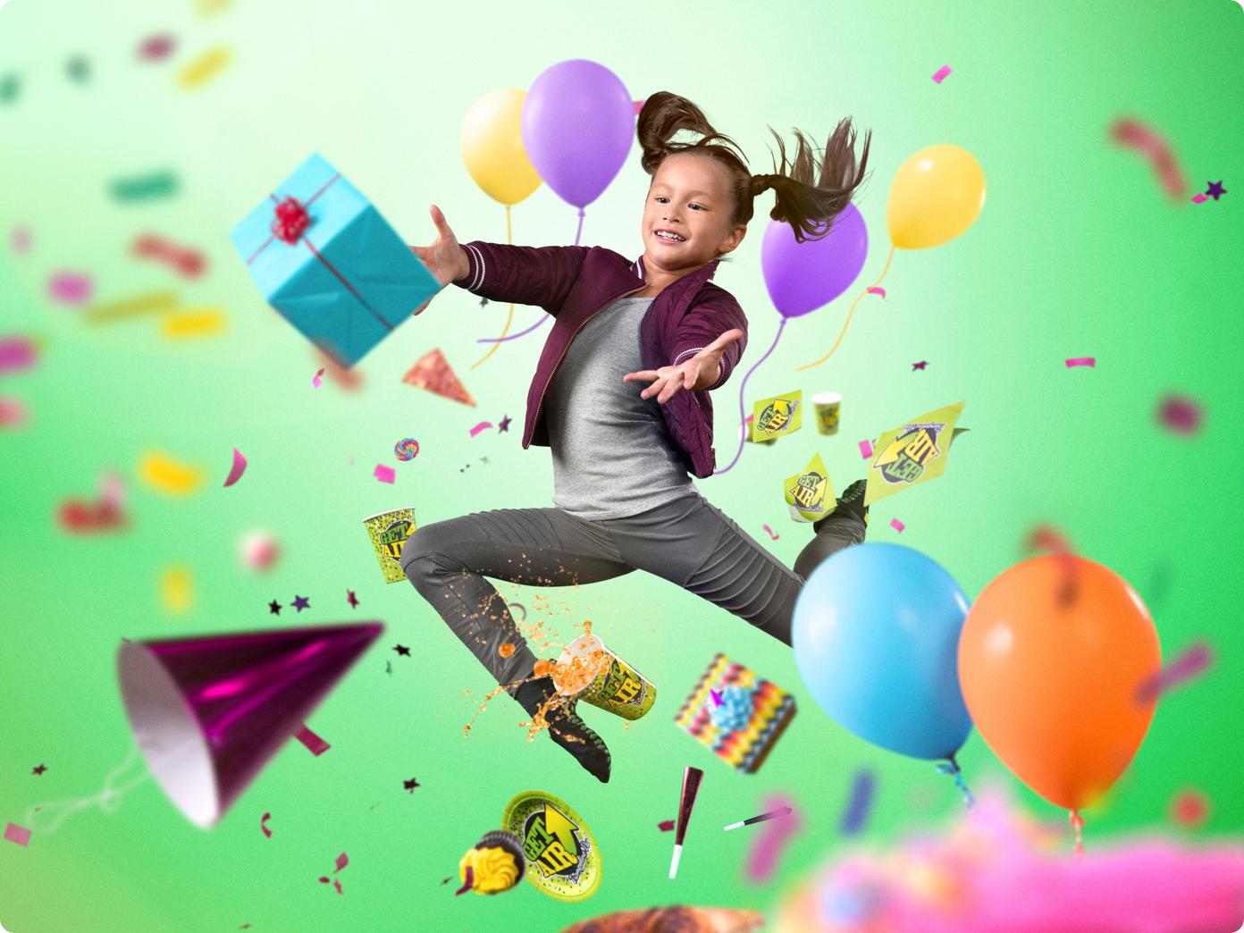 Get Air girl jumping