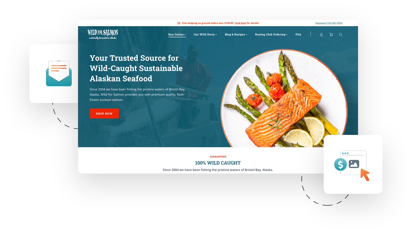 Wild for salmon page design