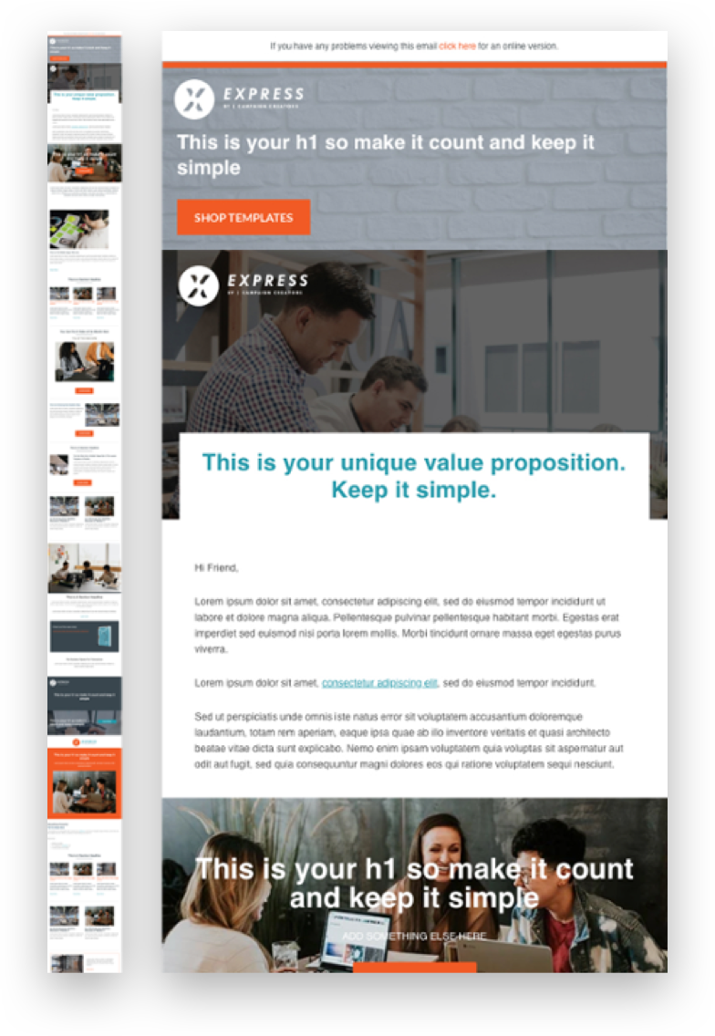 all industries master email template