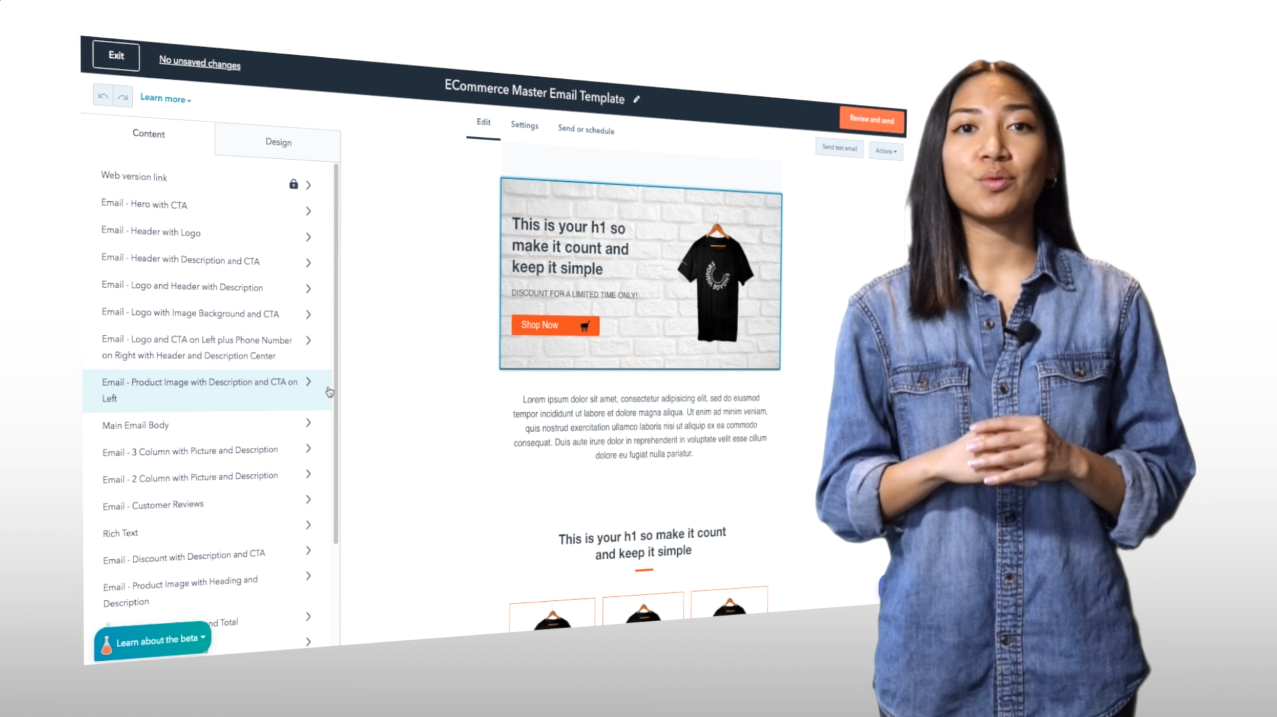 ECommerce Master Email Template Video Thumbnail