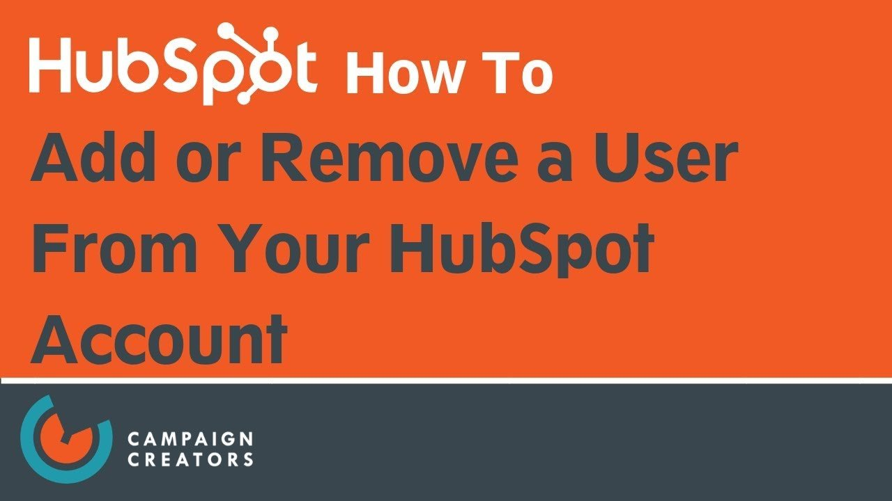 how to add or remove a user from your hubspot account