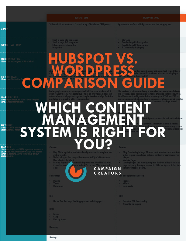 HubSpot vs. WordPress Comparison Guide