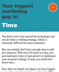 Find Your Biggest Marketing Gap