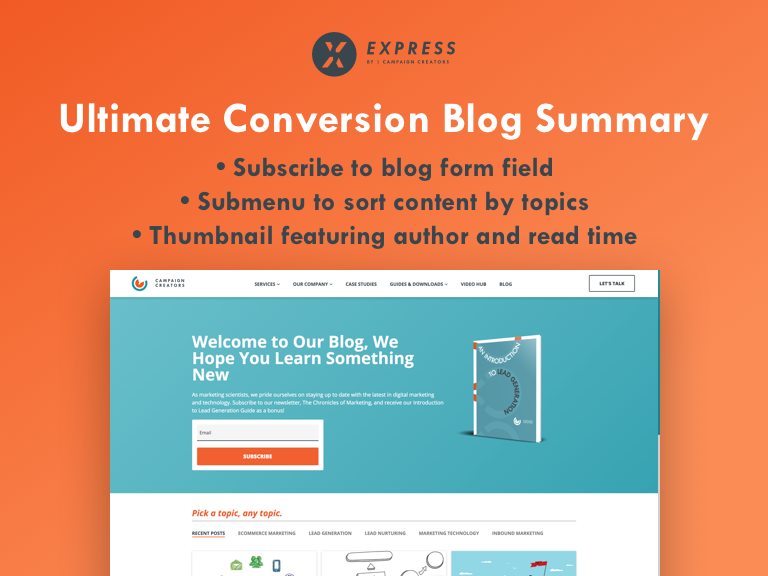 Ultimate Conversion Blog Summary Template Cover