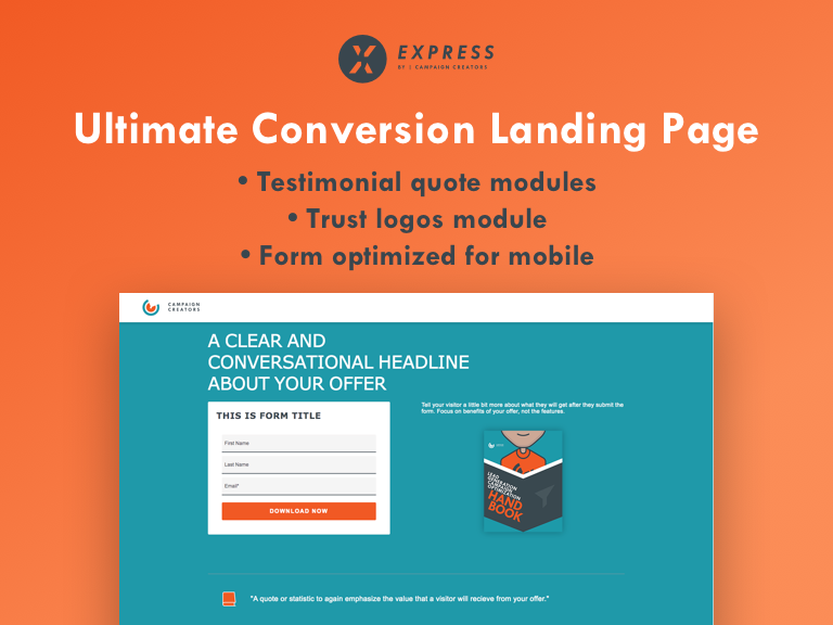 Ultimate Conversion  Landing Page Cover