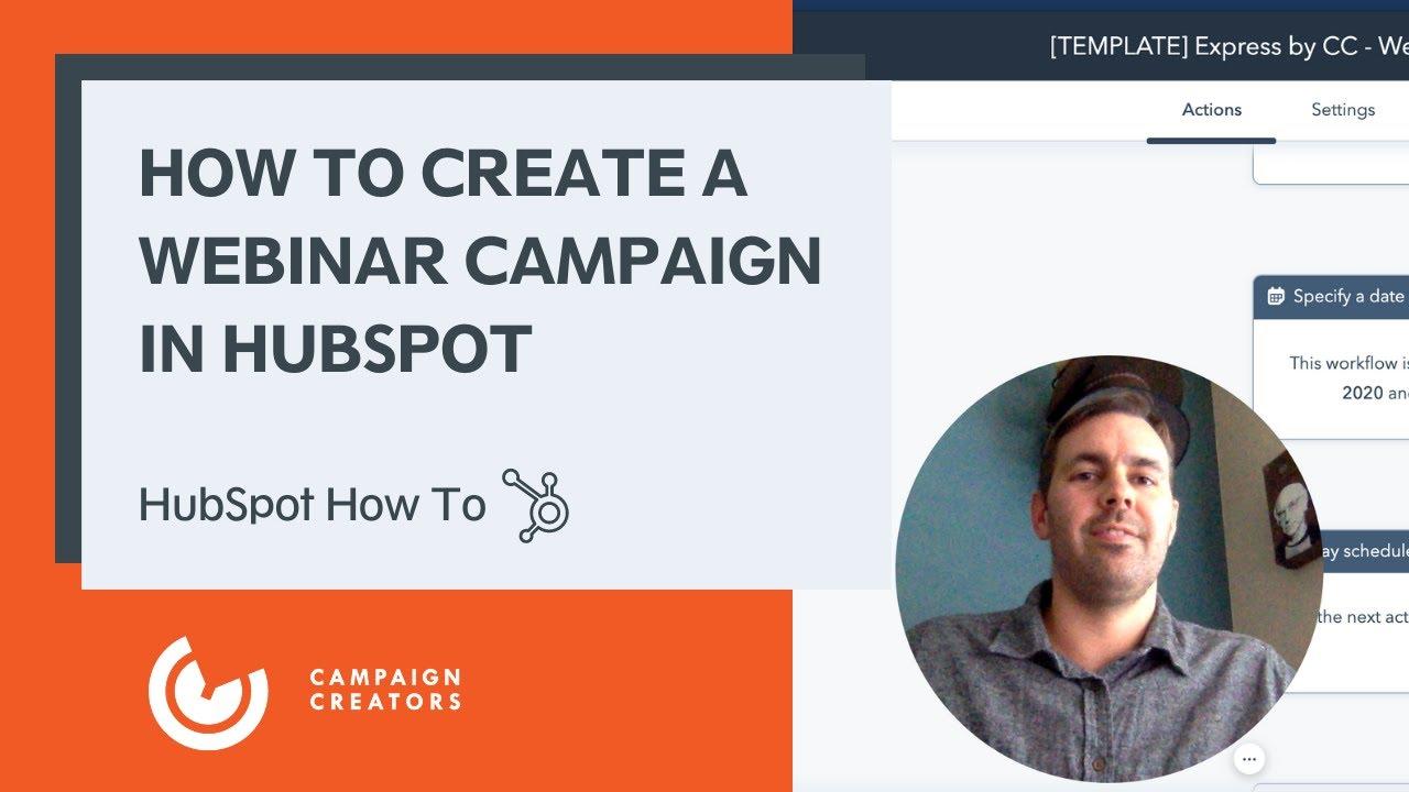 HubSpot Webinar Campaign
